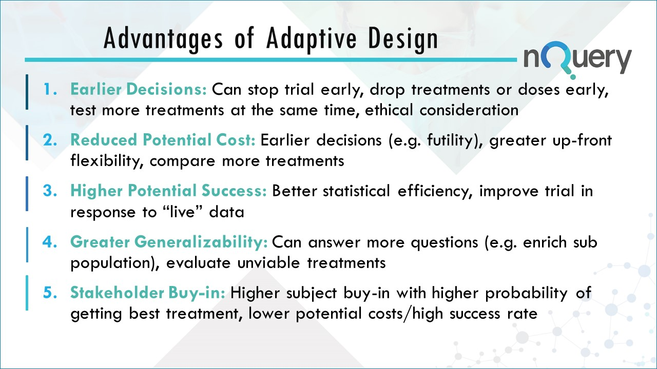 The Advantages of Adaptive Design in Clinical Trials