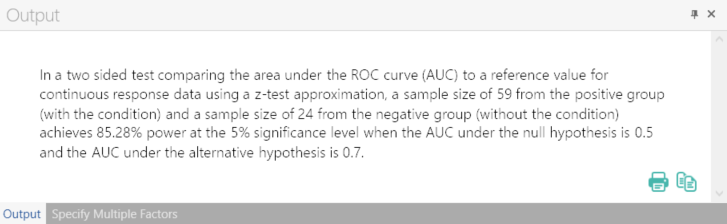 Sample Size Calculator Example- nQuery- Example 02- Img 04- One ROC Curve