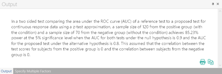 Sample Size Calculator Example- nQuery- Example 03- Img 04- Two ROC Curves