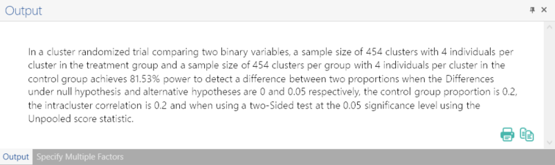 Sample Size Calculator Example- nQuery- Example 05- Img 04 - CRT Two Proportions Inequality Completely Randomised-1