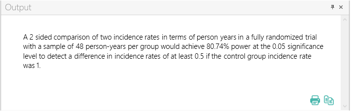 Sample Size Calculator Example- nQuery- Example 09- Img 04- Two Group Test of Incidence Rates using Normal Approximation