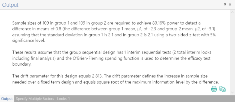 Sample Size Calculator Example- nQuery- Example 15- Img 04- Group Sequential Test of Two Means