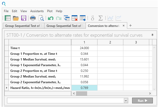 Sample Size Calculator Example- nQuery- Example 22- Img 03- Group Sequential Test of Two Survivals