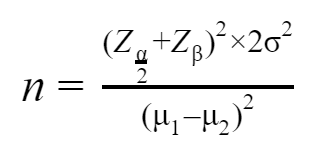 Formula Required for Sample Size
