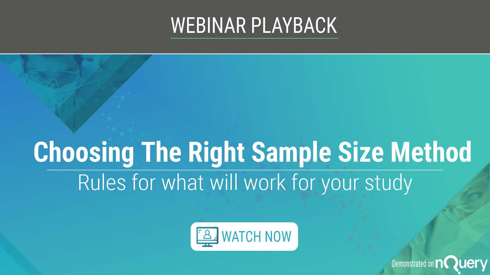 Choosing the Right Sample Size Method Playback