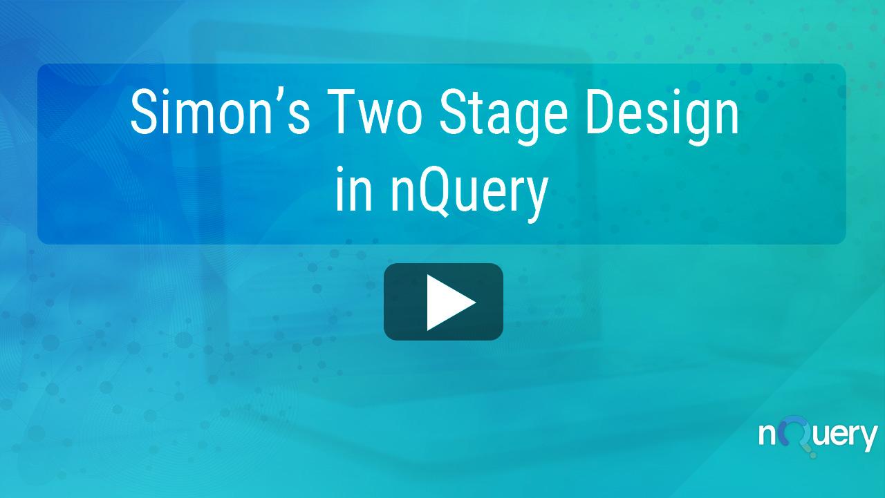 Simon's Two Stage Design nQuery